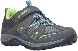 Merrell Trail Chaser Hiking Shoe , Grey/Blue/Citron, 4 M US
