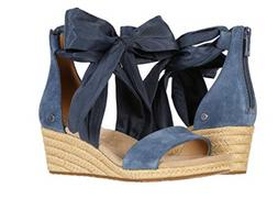 UGG Trina Desert Blue Zipper Wedge Sandal Women's sizes 5-11