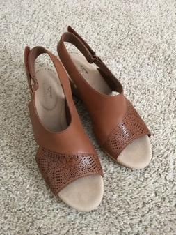 Clarks Ultimate Comfort Wedge Sandals Size 7.5 New