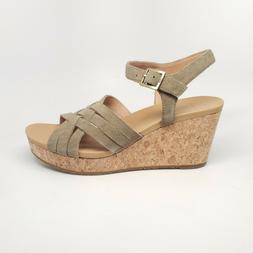 UGG Australia Uma Wedge Womens Suede Cork Wedge Sandal Antil