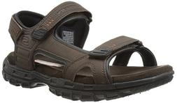 Skechers USA Men's Louden Fisherman Sandal, Brown, 7 M US