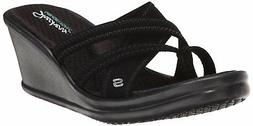 Skechers USA Women's Rumblers-Young At Heart Wedge Sandal