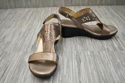**Naturalizer Veda Wedge Sandals, Women's Size 7 M, Metallic