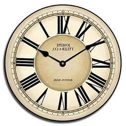 Waterford Wall Clock, Available in 8 Sizes, Most Sizes Ship