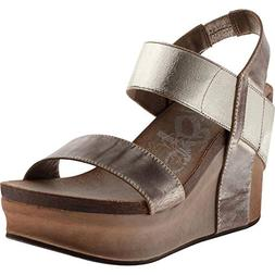 Women's Otbt 'Bushnell' Wedge Sandal, Size 8 M - Metallic