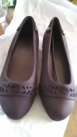 womans ELSA Skimmer by Classique size 7 W Chocolate brown fa