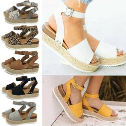 women summer sandals platform open toe espadrilles