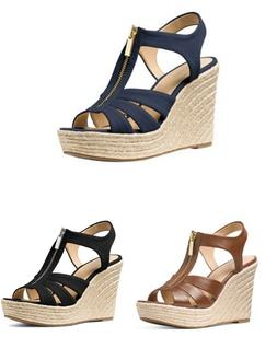 Women MK Michael Kors Berkley Wedge Sandals