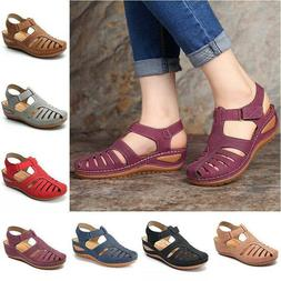 Women Orthopedic Sandals Comfy Closed Toe Mules Summer Slipp