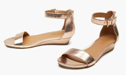 Kenneth Cole Reaction Women's Ankle Rose Gold Wedge Sandals