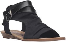 Blowfish Women's Balla Wedge Sandal, Black, 11 Medium US
