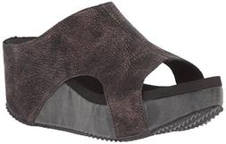 Volatile Women's Bronx Wedge Sandal, Bronze, 9 B US