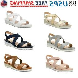 DREAM PAIRS Women's Casual Open Toe Ankle Strap Platform Sli