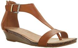 Kenneth Cole REACTION Women's Gal Wedge Sandal, Toffee, 9 M