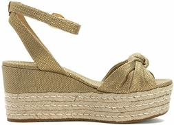 Michael Kors Women's Gold Maxwell Mid Wedge Sandals Size 9