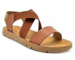 DREAM PAIRS Women's GREEK-01 Tan Platform Wedge Flat Sandals