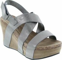 Pierre Dumas Women's Hester-5 Vegan Leather Strappy Wedge Sa