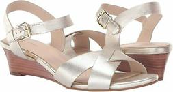 Cole Haan Women's Holly Sandal Wedge , Gold, Size 7.0 fvFW
