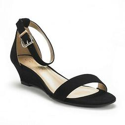 DREAM PAIRS Women's Ingrid Ankle Strap Low Wedge Sandal 10 B
