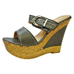 Herstyle Women's Manmade Dovveerr 5-inch Wedge Sandal with F