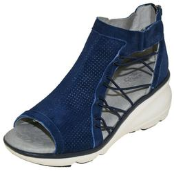 Jambu Women's Naomi Wedge Sandal Navy