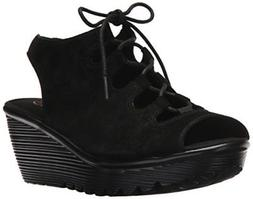 Skechers Women's Parallel Peep Toe Ghillie Slingback Wedge S