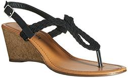 women s riley braided gladiator keyhole low