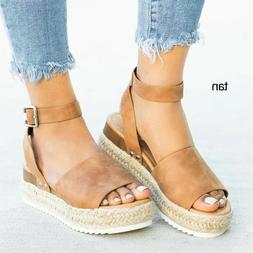 Women's Sandals Plus Size Wedges Shoes For Women High Heels