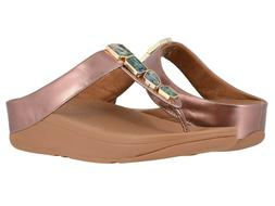 Women's Shoes Fitflop FINO SHELLSTONE T-Strap Wedge Sandals