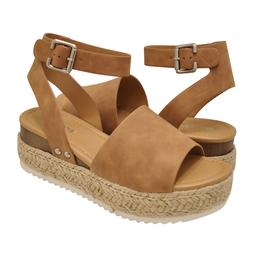 Women's Shoes Soda TOPIC Platform Wedge Espadrille Sandals T