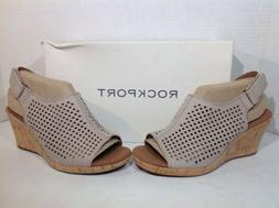 Rockport Women's Size 5 Wide Briah Tan Leather Perforated We
