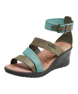 KEEN Women's Skyline Ankle Wedge Sandals Mineral Blue, SIze