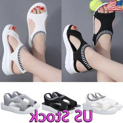 Women's Slip On Elastic Flat Shoes Summer Breathable Casual