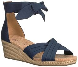 UGG Women's Traci Wedge Sandal, Navy, 6.5 M US