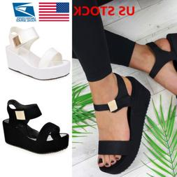 Women's Wedge Heels Ladies Summer Platform Sandals Open Toe