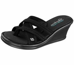 Women's Skechers Wedge Sandals - Rumblers-Young at Heart - B