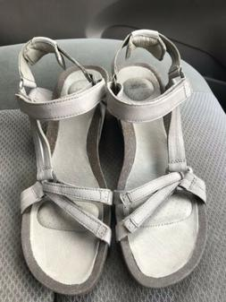 Women's Teva Ysidro Universal taupe leather ankle strap wedg