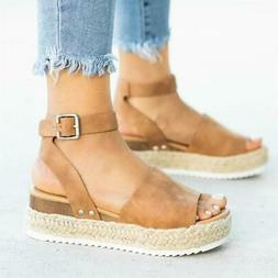 Women Sandals Plus Size Wedges Shoes For Women High Heels Sa