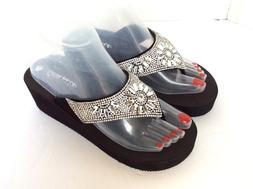 Women Wedge EVA  Platform jewelry.  Flip Flops Sandals Shoes