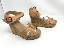 Womens Corkys  Castle Natural Wedge Sandals
