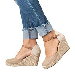 womens summer espadrille wedge sandals fashion strap