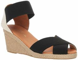 Andre Assous Womens Erika Peep Toe Espadrille Wedge Sandals