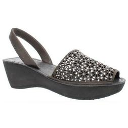 Kenneth Cole Reaction Womens Fine Glass 8 Glitter Wedge Sand