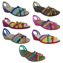 Crocs Womens Huarache Mini Wedge Sandal Shoes
