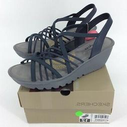 Skechers Womens Parallel Crossed Wires Strappy Sandals Blue