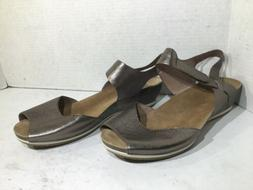 Dansko Womens Size 11 EU 41 Vera Pewter Leather Slingback Sa