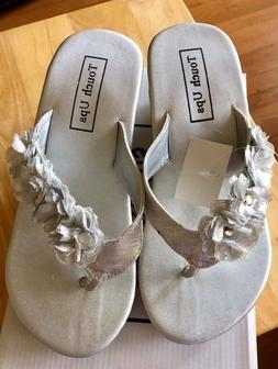 Touch Ups Womens Size 5 Silver Wedge Sandals New with Tags