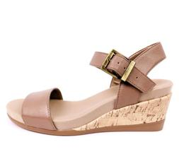 LifeStride Womens Tanglo Wedge Sandal Womens Size 6W Wide Ta