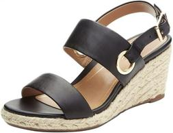 Vionic Womens Vero Wedge Sandal Espadrille Leather Platform
