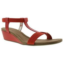 Alfani Womens Voyage Orange Wedge Sandals Shoes 10 Medium  B